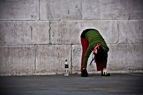 Exercising By A Wall